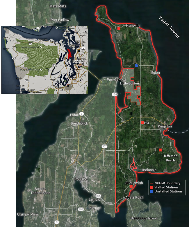 North Kitsap Fire and Rescue boundary map