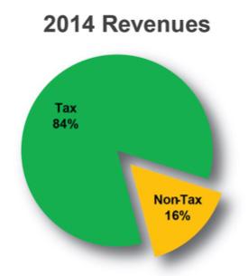 2014 Revenues chart