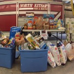 While NKF&R personnel and communities donated an impressive 825 pounds of food, Bainbridge firefighters managed to gather over two times that amount!
