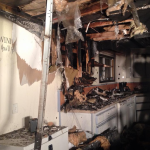 Quick action by a Suquamish police officer limited the damage to the kitchen of a manufactured home after a cooking-sparked fire.