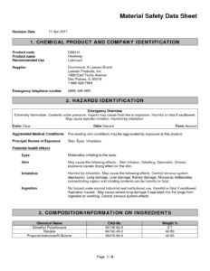 Headway Lubricant MSDS - North Kitsap Fire & Rescue